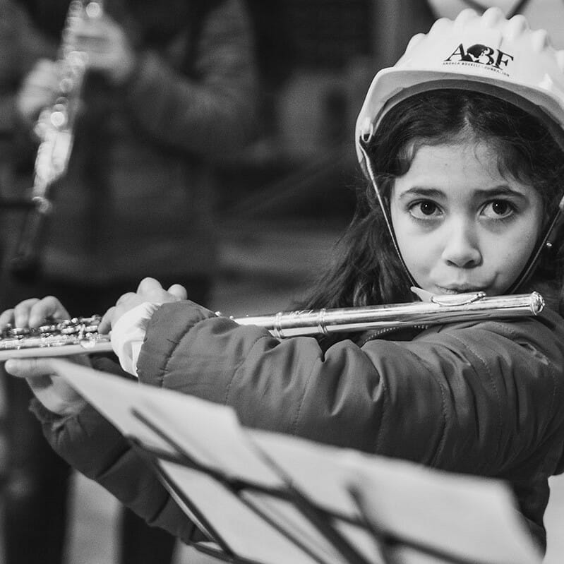 ABF Child Playing Flute