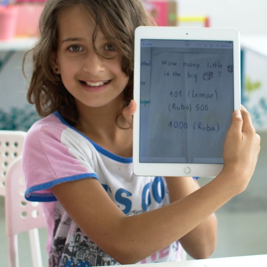 ABF Child Holding Tablet