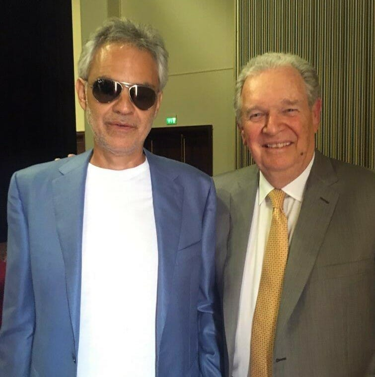 Mike Ferry and Andrea Bocelli